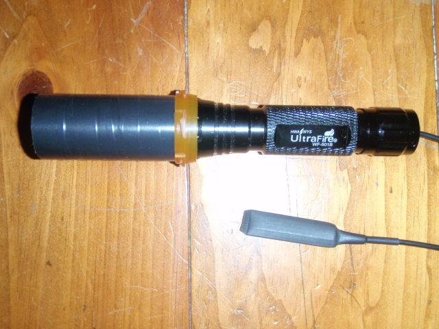 Ultrafire 501B Lens Shroud form Rx Bottle
