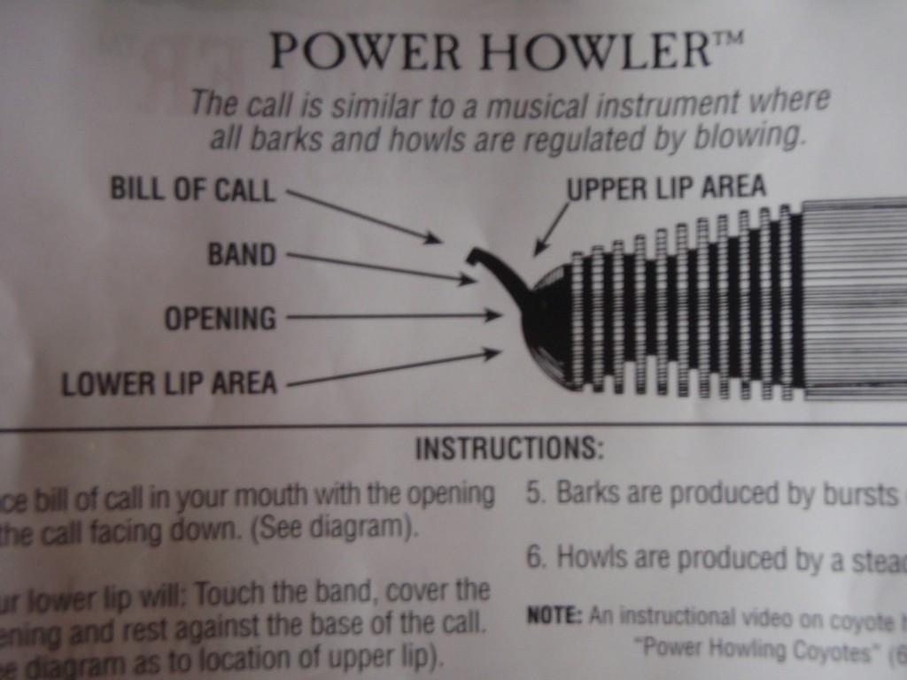 E.L.K. Power Howler Instructions